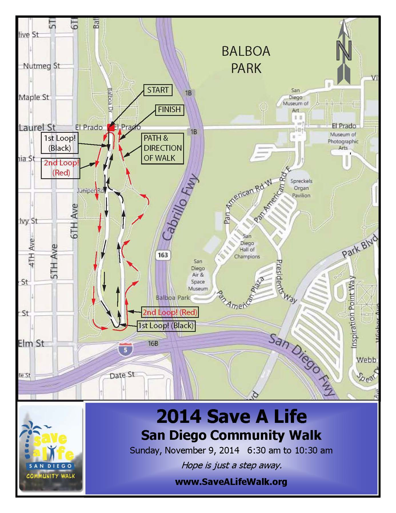 Photo of Map of Save A Life Walk 2014