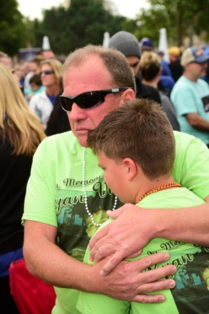 photo of father & son grief at the walk in Balboa Park