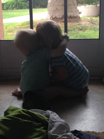 photo of boys hugging, surviving loss