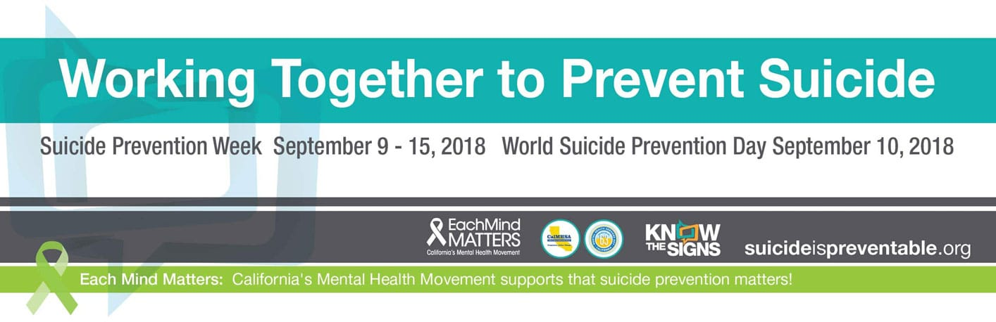 Working Together to Prevent Suicide Banner