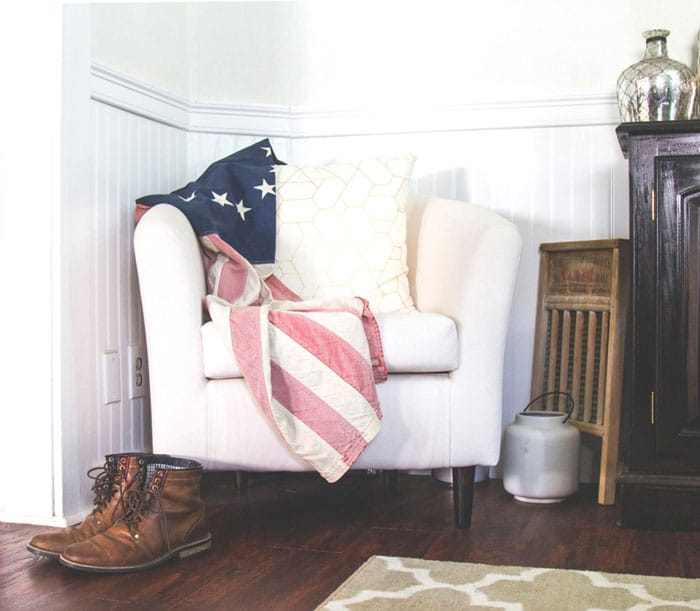 flag and boots