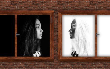 Voice Project image 2: photo of a girl and her negative image